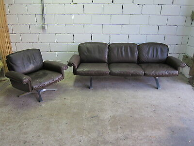 vintage design De Sede ds 31 3 seater + swivel clubchair