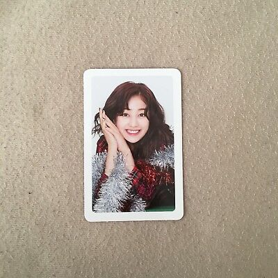 TWICE Merry & Happy 1st Repackage JIHYO Official Photocard Red B Version