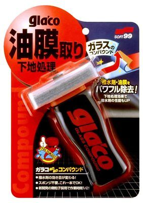 Soft99 Glaco Glass Compound Roll On Polish Cleaner Rain Car Repellent Windshield