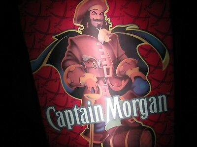 Captain Morgan Rum Advertsing Alcohol Bar Lighted Sign Pirate