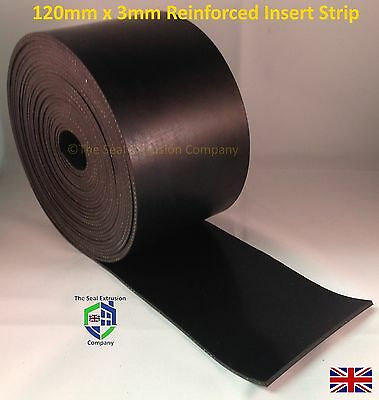 Solid Rubber Strip - 3.0mm x 120mm Wide 5mtr or 10mtr length