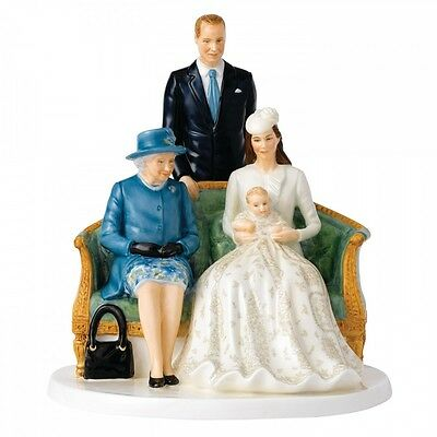 "Royal Doulton Her Majesty A Royal Christening 8.7"" Figurine Hand Signed Doulton"
