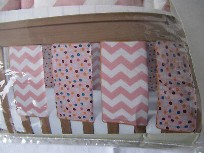 Mamas and Papas Patternology Pink Cot Bar Bumpers (Pack of 8)