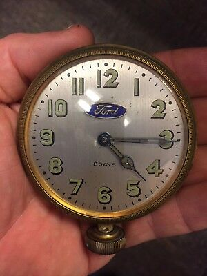 Beautiful 1920s 1930s Ford Model A V8 Car 8 Day Mechanical Clock Watch