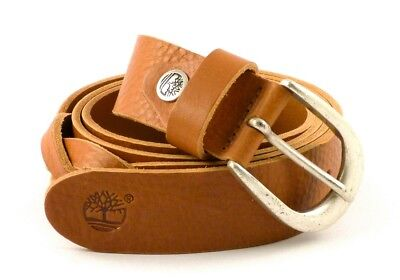CINTURA IN PELLE Donna Timberland M4372 Cognac 212 Made In Italy