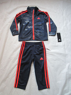 Adidas Track Suit Boys Color Color Navy 2 Piece Set SZ 6