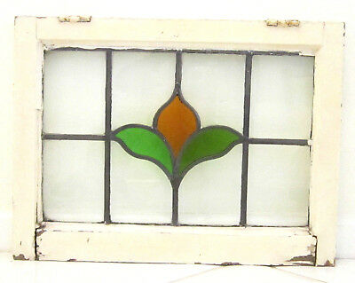 Antique Vintage English Hanging Stained Glass Window