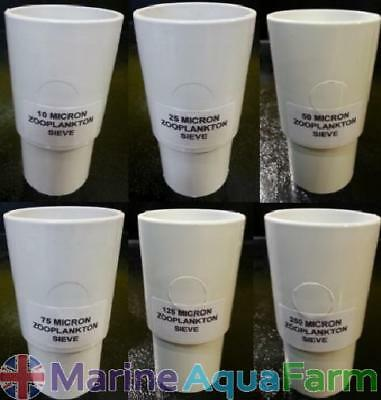 Micron Zooplankton Stackable Sieve, Rotifers, Brine Shrimp, Copepods, Marine