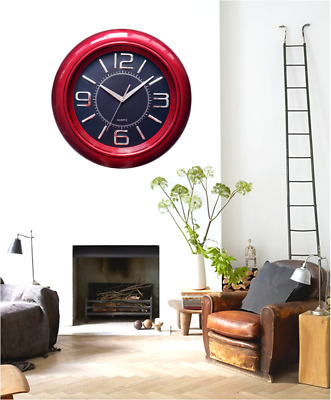 Large Round Wall Clock Retro Home Bedroom Kitchen Office Quartz Hanging Clock