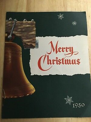 Merry Christmas From General Motors - Vintage 1950 - Dist to all GM Employees
