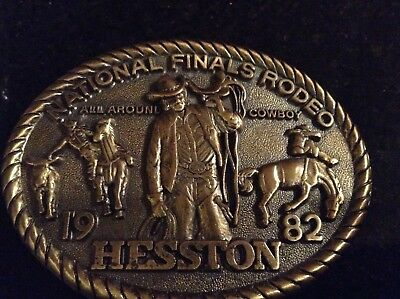 1982 National Finals Rodeo! All Around Cowboy!  Belt Buckle!