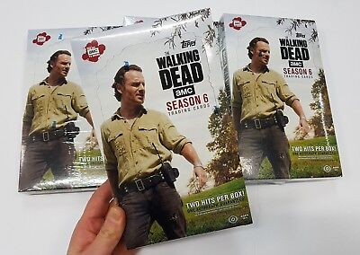 💥 2017 Topps The Walking Dead Trading Cards -Amc Season 6 -24 Pack Hobby Box