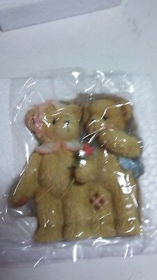 Cherished Teddies 113687 Boy And Girl Figurine 2003 Our Love Is Shown With Hugs