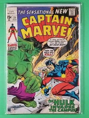 Captain Marvel (1st Series) #21 (Marvel, August 1970)