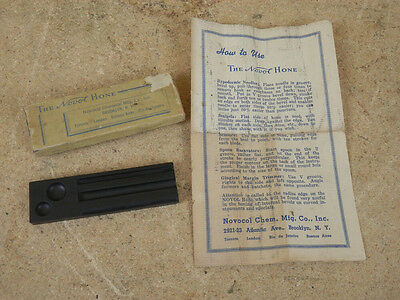 Vintage Novocol Chemical Mfg. Co. The Novol Hone Sharpening Stone Needle Scapel