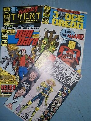 Quality Comics 2000AD mixed lot of 4 issues 1986