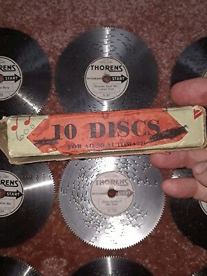 THORENS Lot Music Discs for AD 30  Automatic Music Box 10 Total Discs