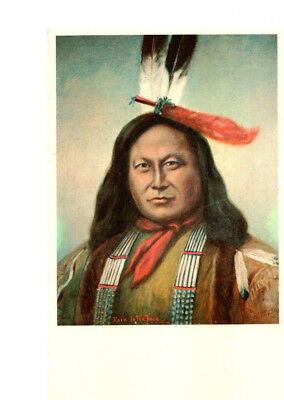 Rain In the Face, Sioux Indian Warrior, Chief, by C. S. Stobie Postcard