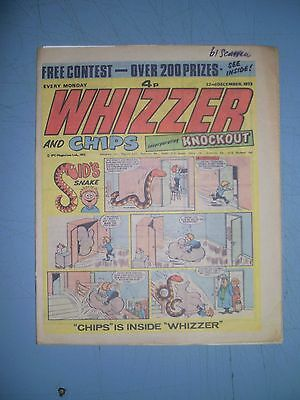 Whizzer and Chips issue dated December 22 1973 puzzle done