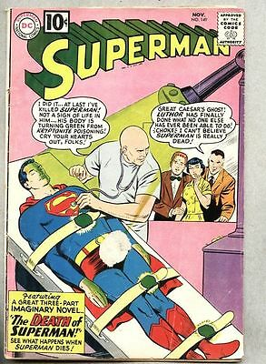 Superman #149-1961  Death of Superman / Luthor...gd