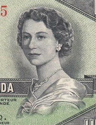 1954 BANK OF CANADA QEII $1 **DEVILS FACE** (( aUNC ))