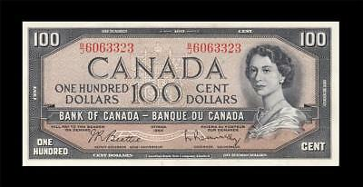 1954 BANK OF CANADA QEII $100 **Beattie & Rasminsky** (( GEM UNC ))