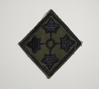 4th Infantry Division Twill Subdued Vietnam Cut Edge Patch US Army P5904