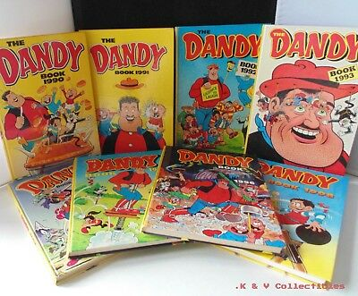 The Dandy Book Annuals x 8 (1990's) GC & CHECKED