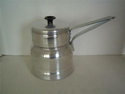 NICE Vtg Comet 3 Piece Aluminum DOUBLE BOILER Sauce Pan Set With Lid Made In USA