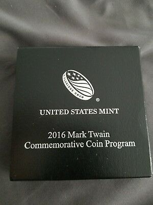 2016-P Mark Twain 90% Silver Proof Dollar Round Coin With Mint Pack & COA