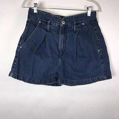 Vtg 90's Denim Jean High Waist Pleated Shorts Women's LA BLUES Sz 12