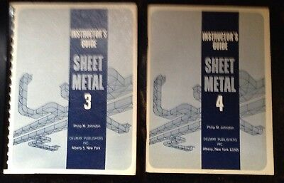 Sheet Metal  3 & 4 Instructors Guide Johnston Delmar Used 60's