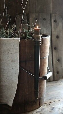 Primitive Early Lighting Inspired Vintage Single Candle Mold w/Wire Hanger & Nub