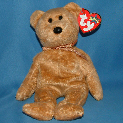 Ty Cashew The Bear, The Beanie Baby & Tag Are Near Mint, 2000, Retired