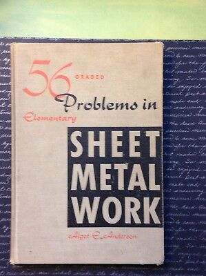 56 Problems In Elementary Sheet Metal Work Anderson Book Metalworking Tinsmith
