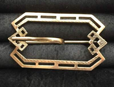 Vtg ANTIQUE Brooch Pin Art Deco or Victorian Belt Buckle Old Jewelry lot i