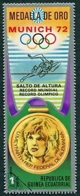 EQUATORIAL GUINEA 1972 1p used NG Olympic Medalists Munich U. Meyfarth d a2