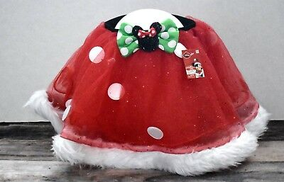 Disney Christmas Adorable Tutu 4+ Minnie Mouse Bow Glitter New Red Girls Toddler