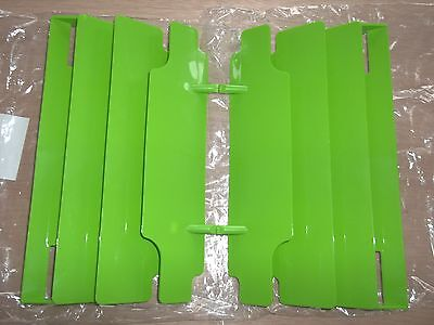 New Green Kawasaki Radiator Guards KX125 KX250 KX500 KX 125 250 500 KDX250 KDX