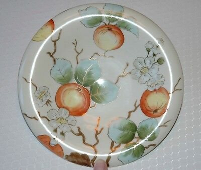 Plate Hand Painted Vienna China Austria Footed #3741 Vintage Gold Accents