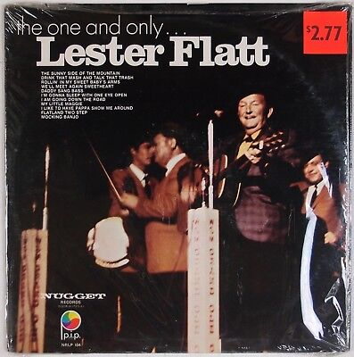 LESTER FLATT: The One and Only USA NUGGET Bluegrass Shrink Vinyl LP VG++