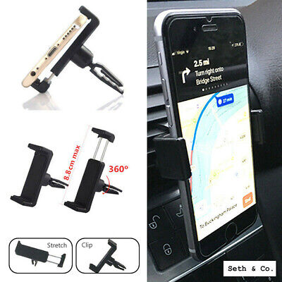 Car Phone Holder Mount Cradle 360 Universal Air Vent Bracket for Mobile Phone UK