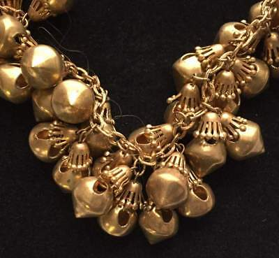 Vtg ANTIQUE Necklace Art Deco or Victorian Chunky Gold tone Bead Chain lot e