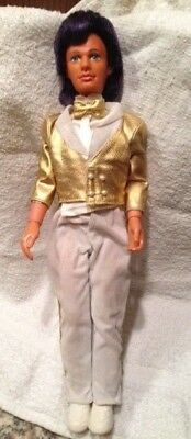 1987 Hasbro Jem and the Holograms Glitter N Gold Rio doll with stand and clothes