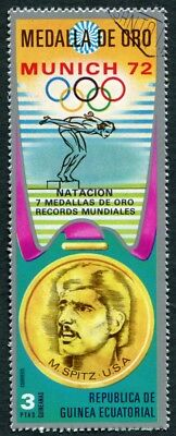 EQUATORIAL GUINEA 1972 3p used NG Olympic Medalists Munich M. Spitz i a2