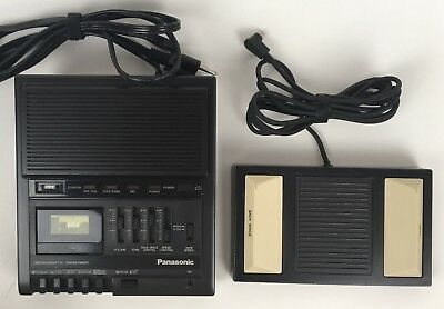 Panasonic RR-930 Microcassette Transcriber & RP-2692 Foot Pedal TESTED WORKING