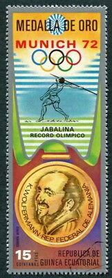 EQUATORIAL GUINEA 1972 15p used NG Olympic Medalists Munich K. Wolfermann b a2