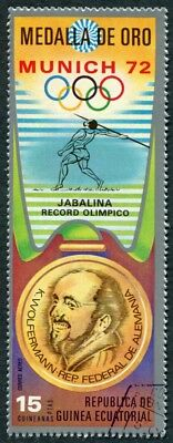 EQUATORIAL GUINEA 1972 15p used NG Olympic Medalists Munich K. Wolfermann f a2