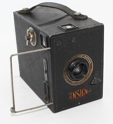 Houghton-Butcher All-Distance Ensign Deluxe Box 120 Film Camera with bag VGC