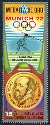 EQUATORIAL GUINEA 1972 15p used NG Olympic Medalists Munich K. Wolfermann j a2